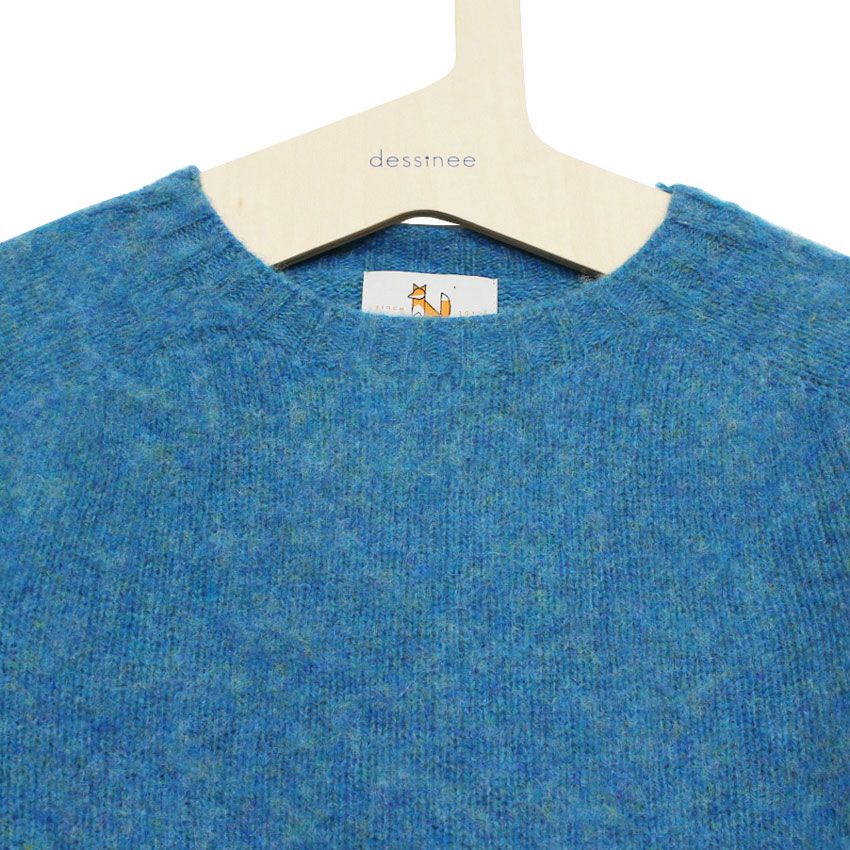 William Fox & Sons (ウィリアム・フォックス・アンド・サンズ) - Brushed Wool Pullover (ニット) (Azure)
