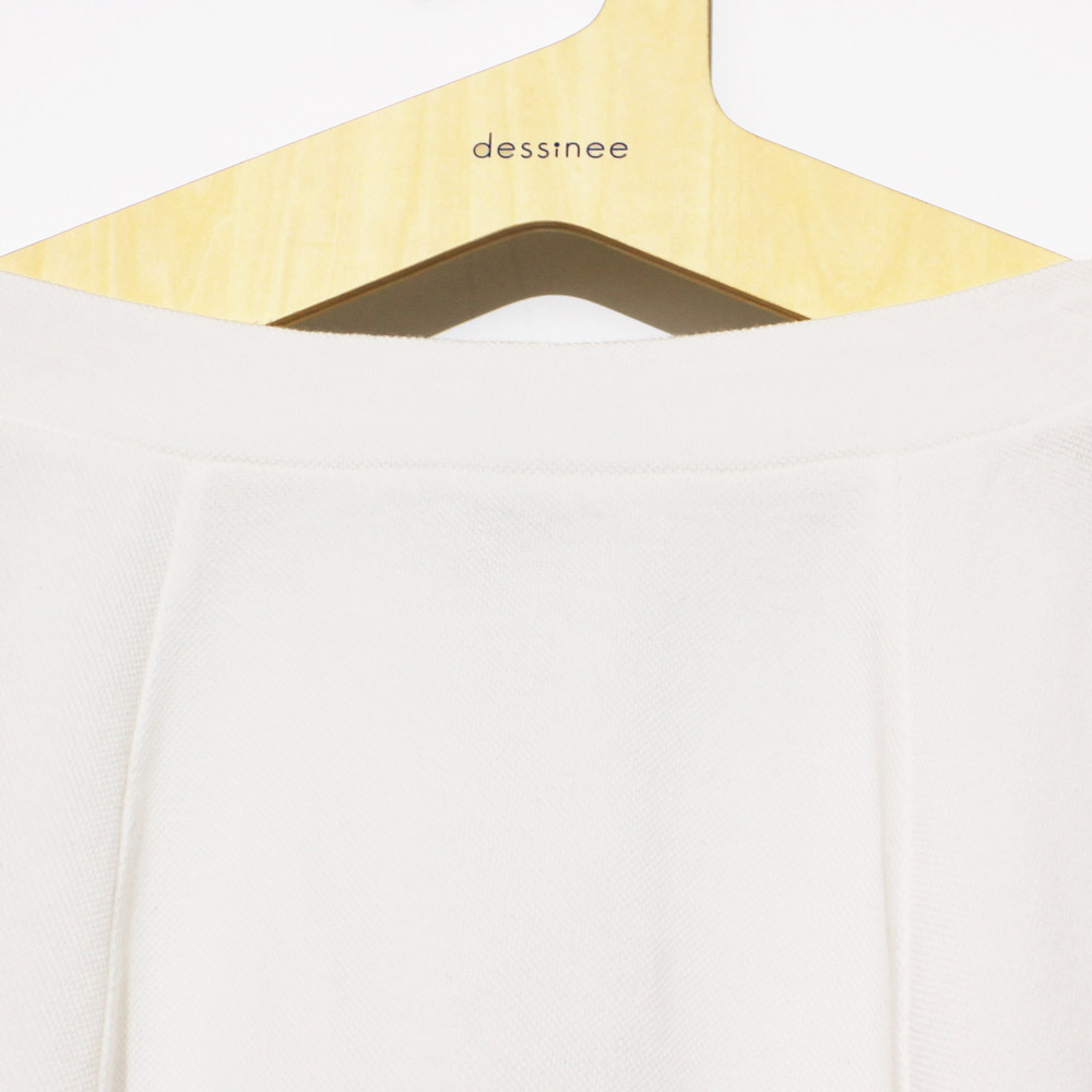Le Mont St Michel (ル・モンサンミッシェル) - Cotton Piquee Skirt (スカート) (White)