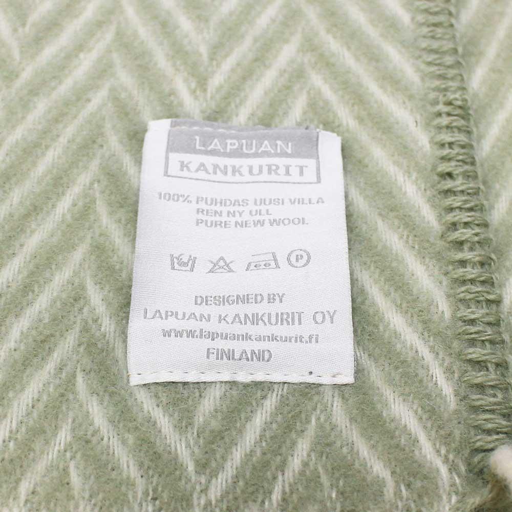 Lapuan Kankurit (ラプアン・カンクリ) - IIDA / Pocket Shawl (ショール) (Green/White)