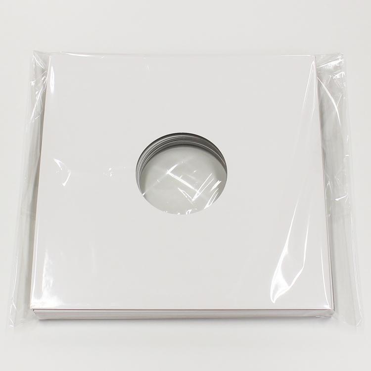 "◇ White Cardboard Jacket for LP (10/50pcs) - LP用ジャケット/""特""厚紙 (10/50枚セット) (Accesary)"