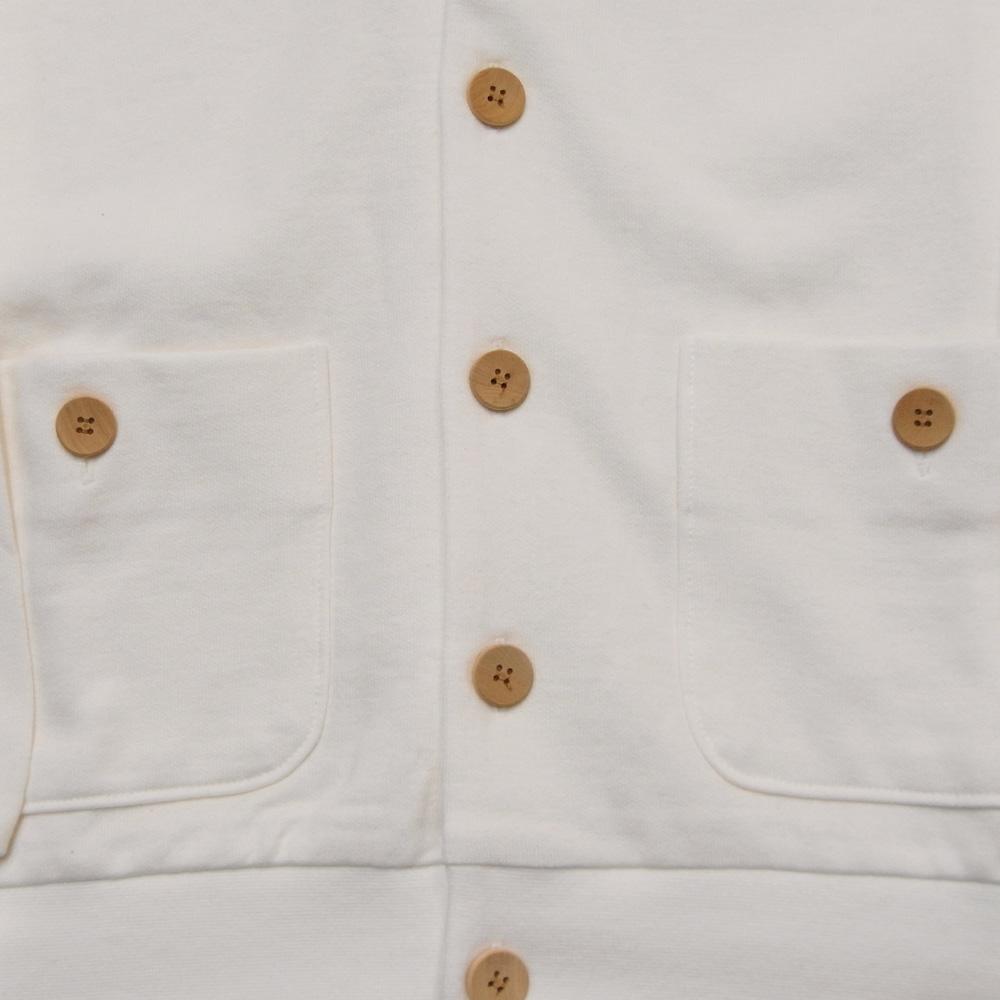 ensemble dessinee ( アンサンブル・デシネ) - Sweat Cardigan  (カーディガン) (White)