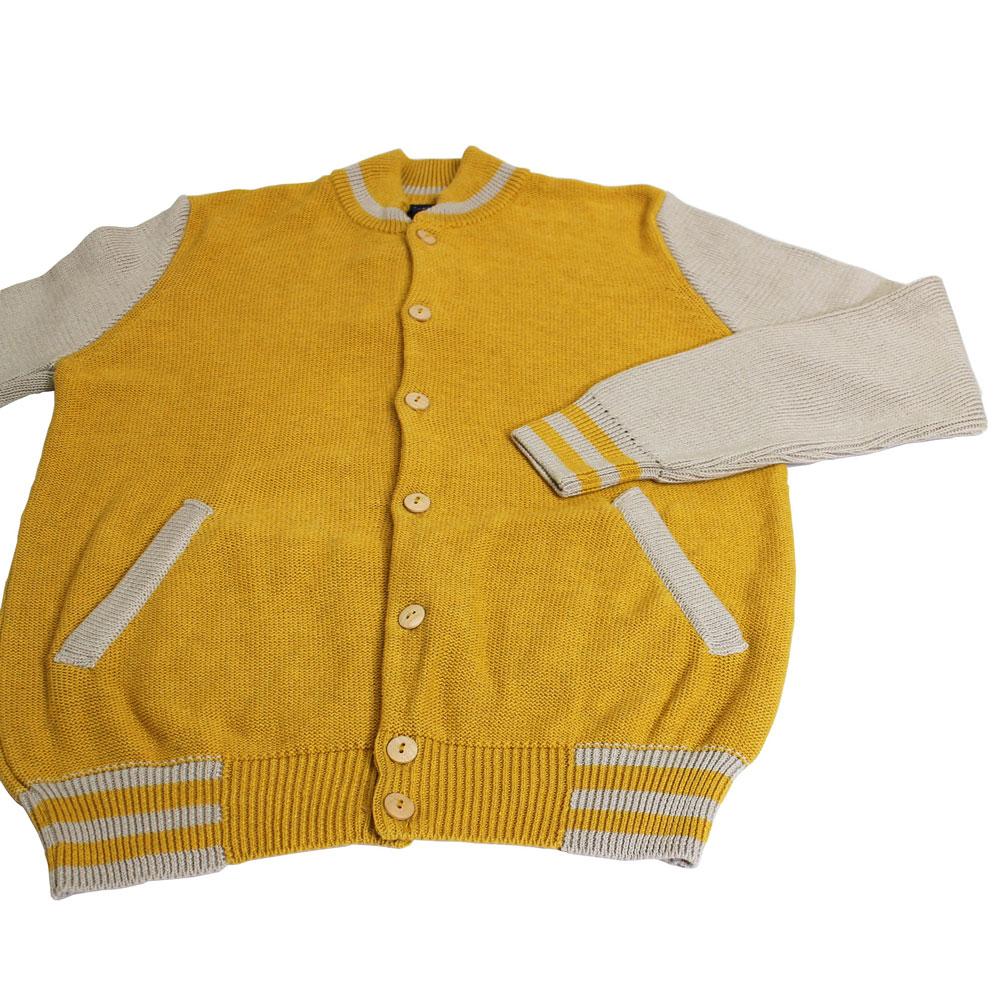 Monsieur Lacenaire (ムッシュー・ラスネール) - Teddy (ニットカーディガン) (Yellow/Ecru)