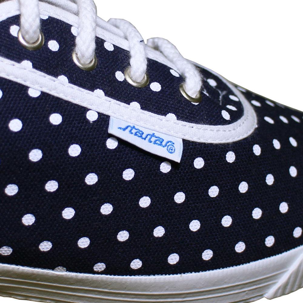 Startas (スタルタス) - Polka Dots (スニーカー) (Navy)