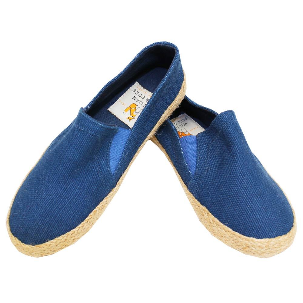William Fox & Sons (ウィリアム・フォックス・アンド・サンズ) - Jennys Jute Shoes (スリッポン) (Blue)