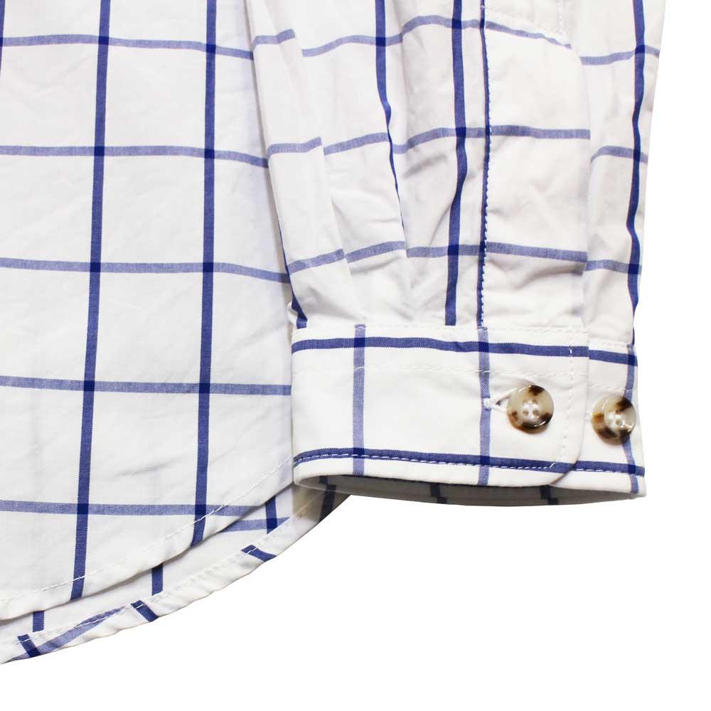 Gingamp (ギンガム) - Ordinary Shirts Typewriter Cloth (長袖BDシャツ) (Off/Blue)