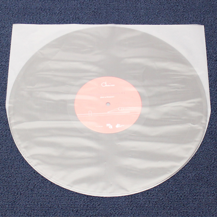 """PP Round Inner Sleeves for LP/""""Thick"""" (100pcs) - LP用半透明内袋/丸底/厚め (100枚セット) (Accesary)"""