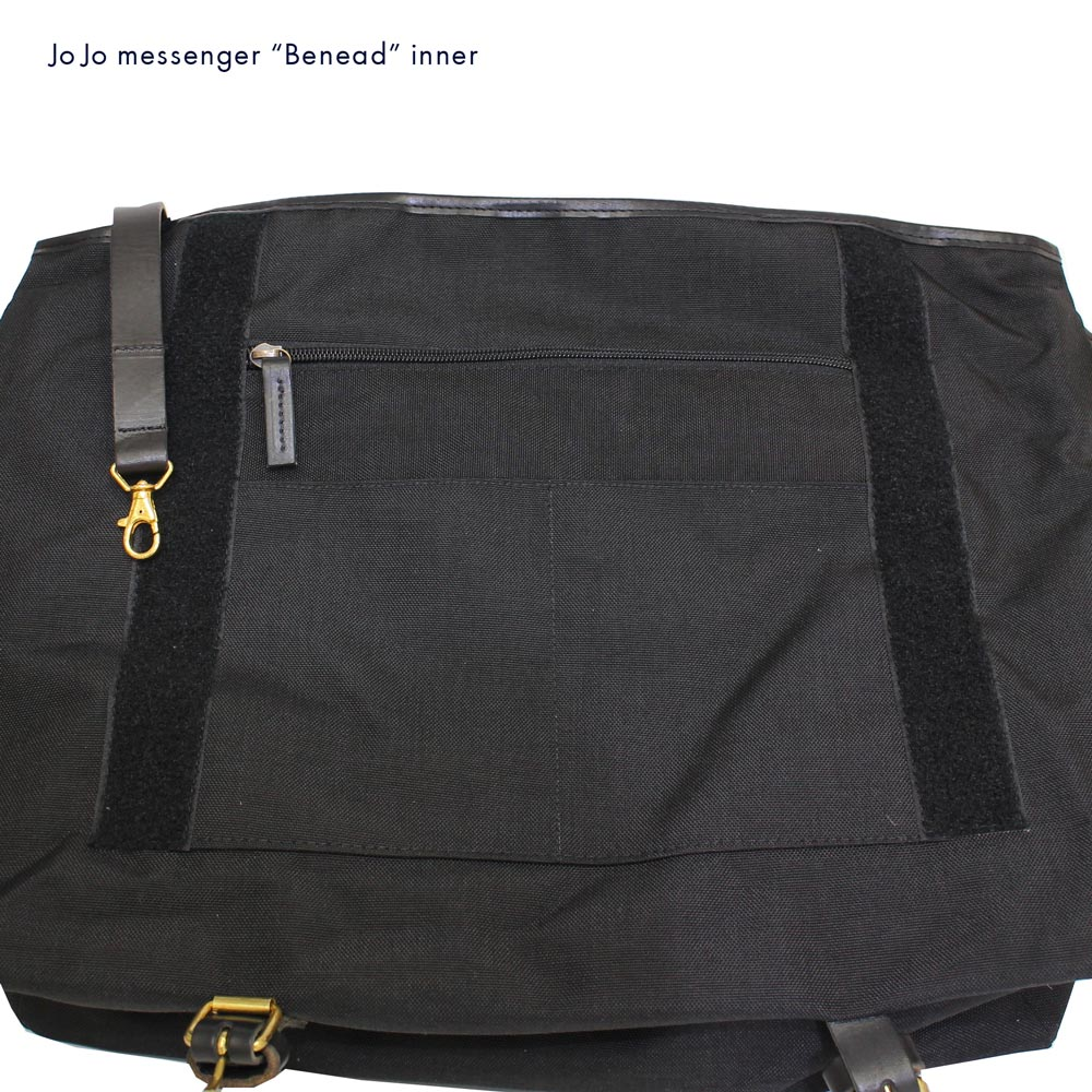 JOJO messenger (ジョジョ・メッセンジャー) - Benead (メッセンジャー・バッグ) (Black/Tauny)