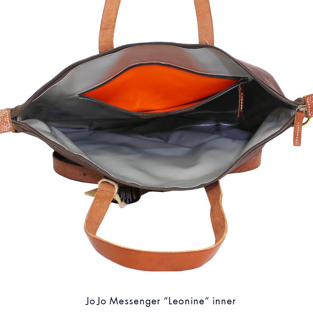 JOJO messenger (ジョジョ・メッセンジャー) - Leonine (トート・バッグ) (Black/Tauny)