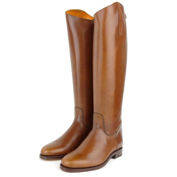 Palanco (パランコ) - Back Zip Reather Long Boots (ロングブーツ) (Bronce)