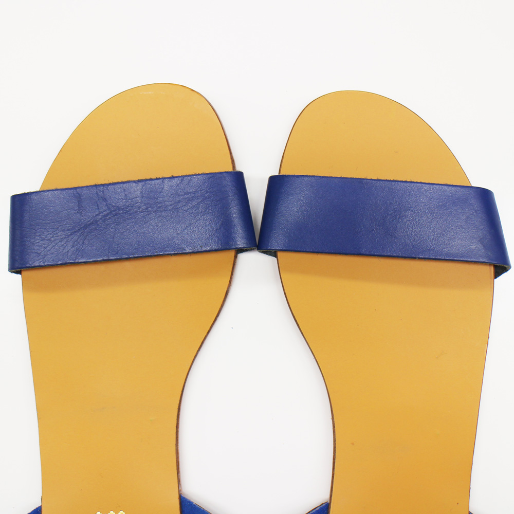 Deena & Ozzy (ディーナ&オジー) - Double Strap Sandal (サンダル) (Blue)