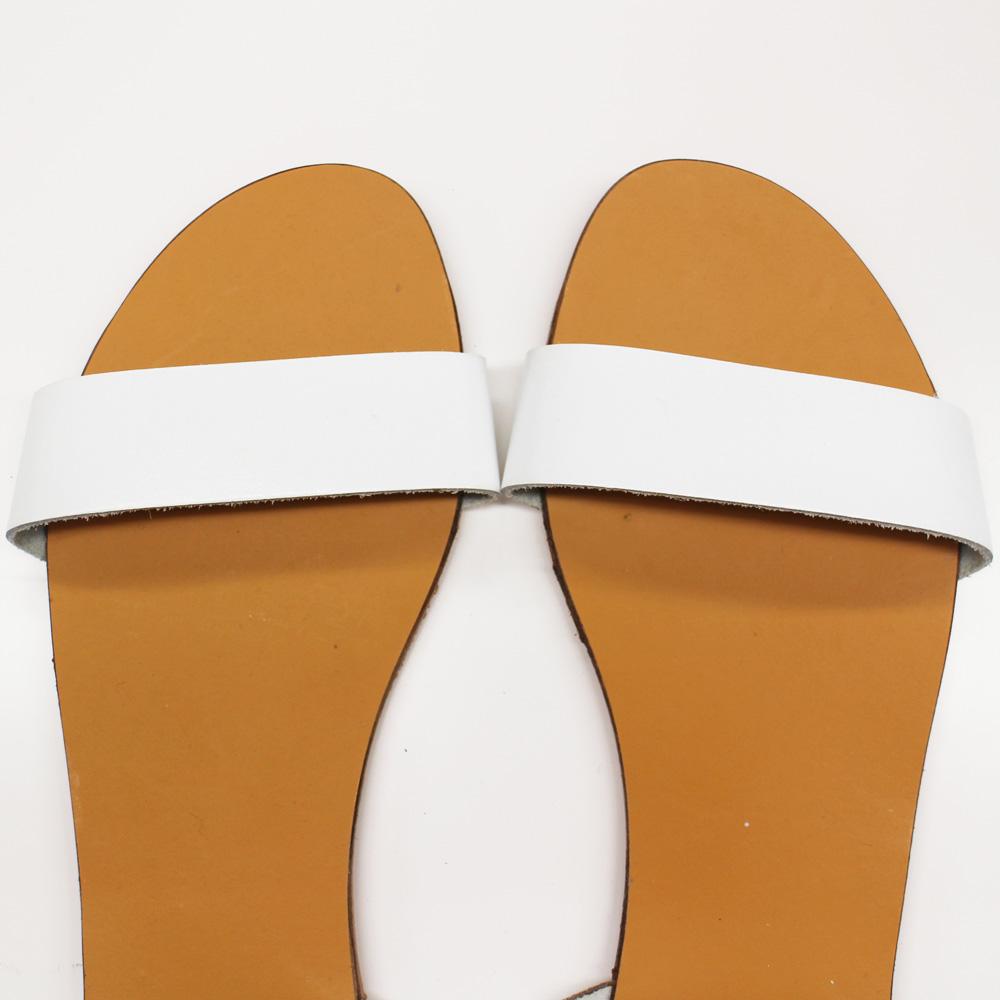 Deena & Ozzy (ディーナ&オジー) - Double Strap Sandal (サンダル) (White)