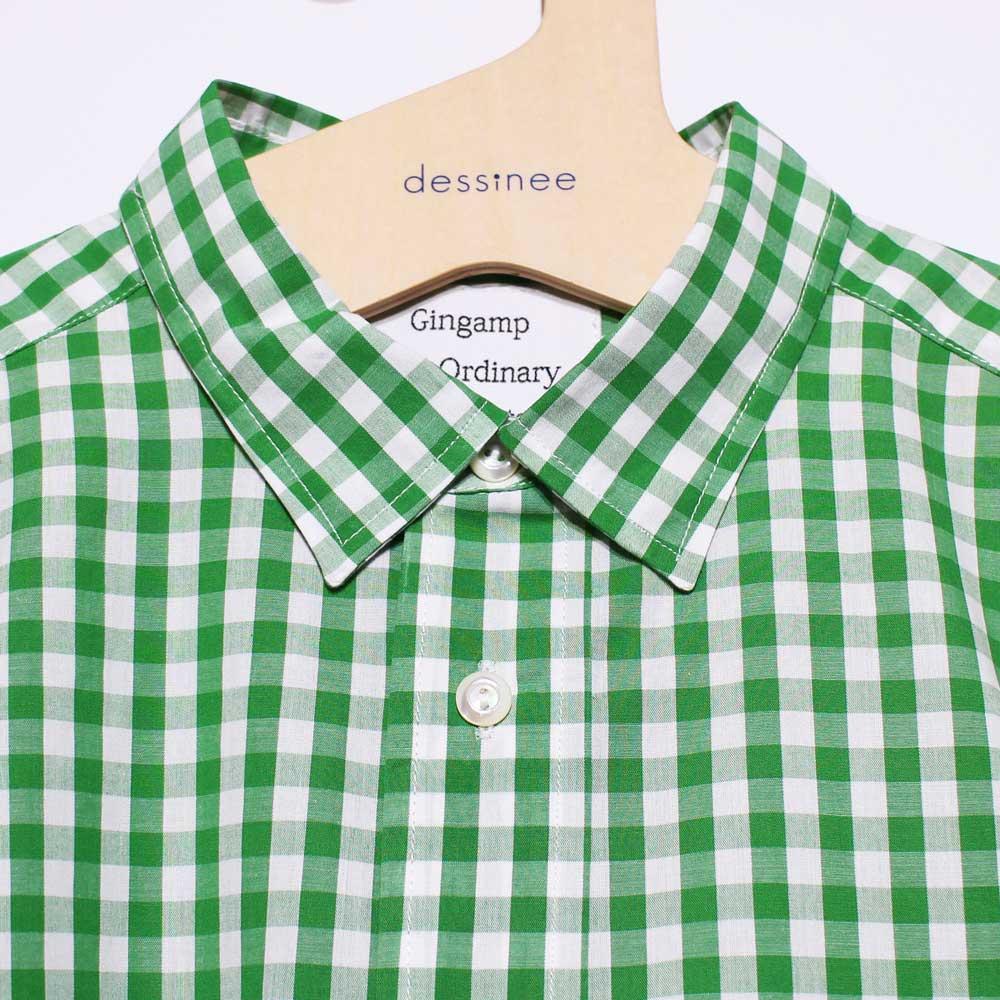 Gingamp (ギンガム) - Ordinary Shirts Gingamp (長袖BDシャツ) (Green)