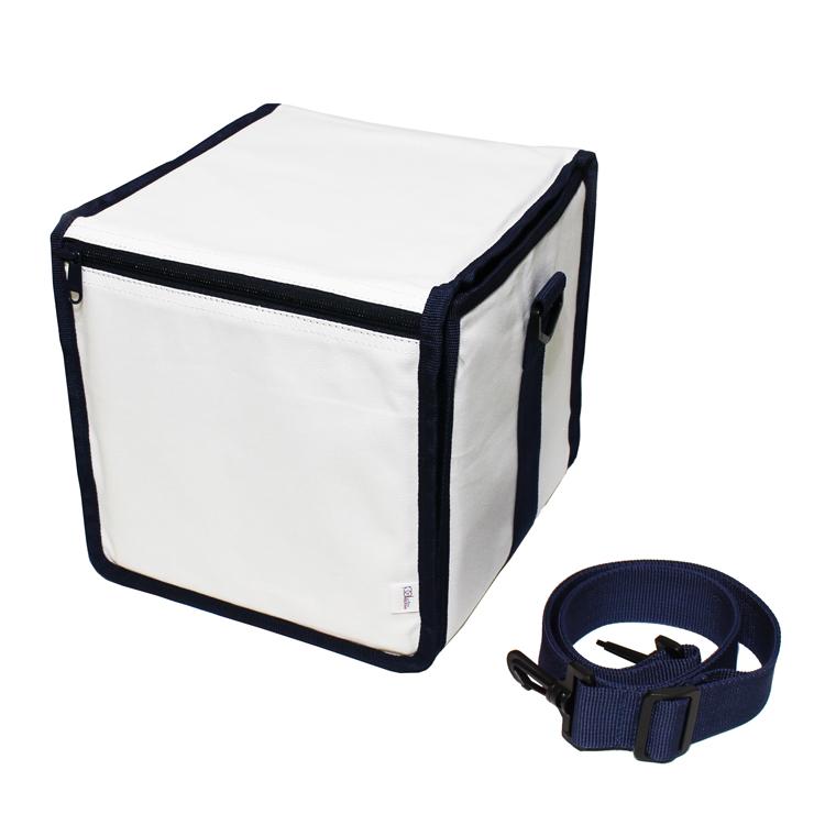 production dessinee (プロダクション・デシネ) - 45 Bag III [45 Bag 3] [白×紺-キャンバス素材] (フォーティー・ファイヴ・バッグ・スリー) (Accesary)