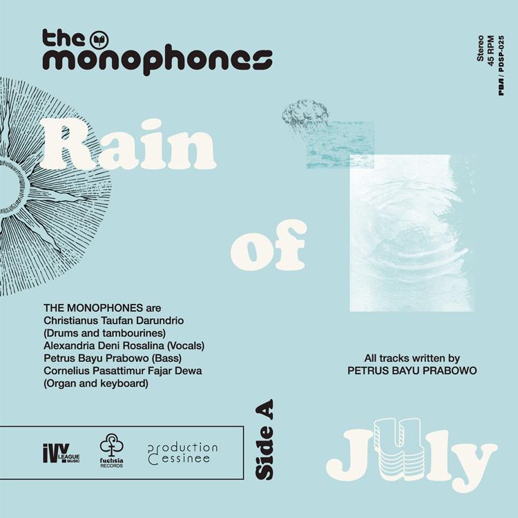 "Monophones, The (ザ・モノフォンズ) - Rain Of July c/w A Voyage To The Velvet Sun (7月の雨 / ビロードの太陽への旅路) (New 7"")"