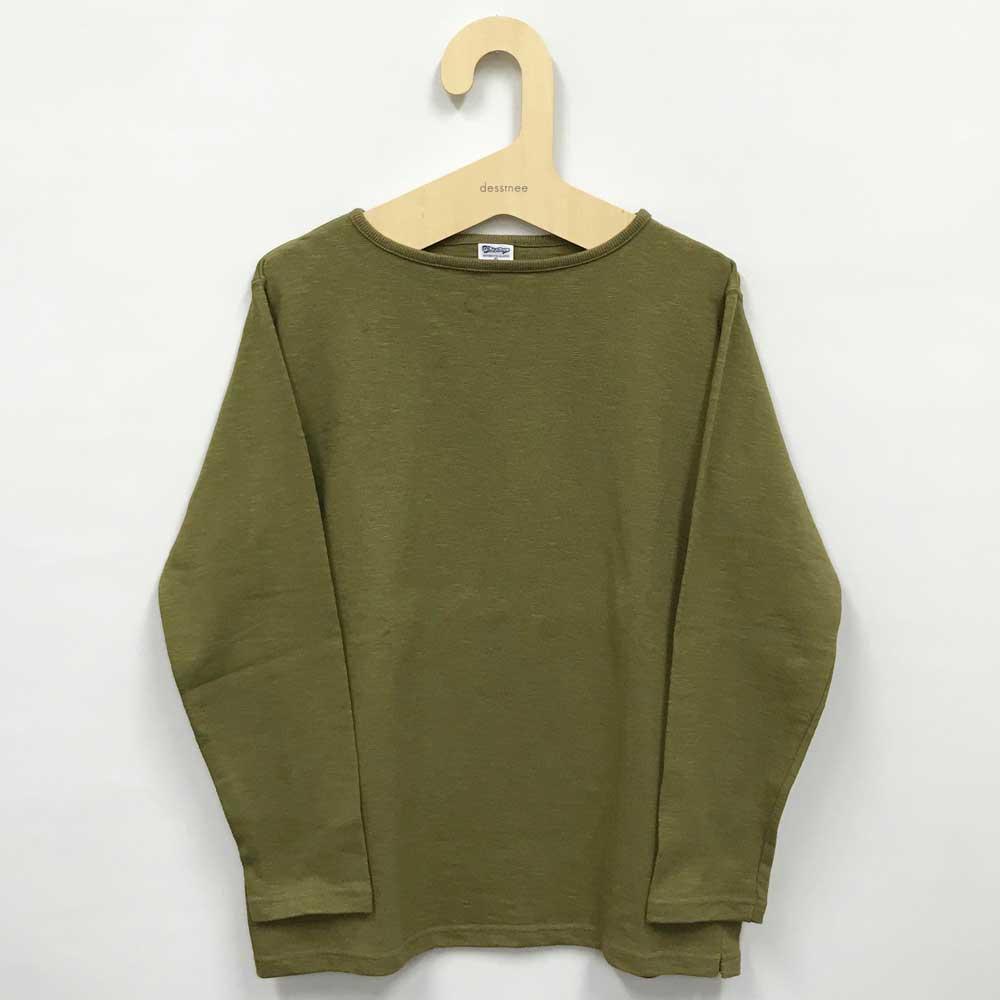 Tieasy AUTHENTIC CLASSIC (ティージー) - [アウトレット] HDCS Boatneck Basque Shirt (バスクシャツ) (Rakuda-Brown)