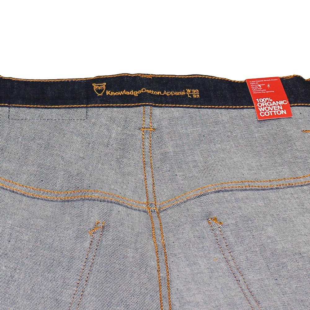Knowledge Cotton Apparel (ノーレッジ・コットン・アパレル) - Tube Fit Jeans (ジーンズ) (Atlantic Blue)