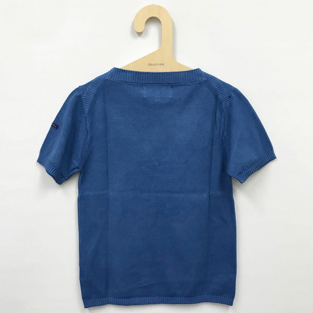 FILEUSE D'ARVOR (フィルーズ・ダルボー) - [アウトレット] Tristan (半袖ニット) (Pastel Blue)