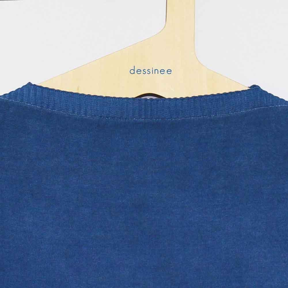 FILEUSE D'ARVOR (フィルーズ・ダルボー) - Tristan (半袖ニット) (Pastel Blue)