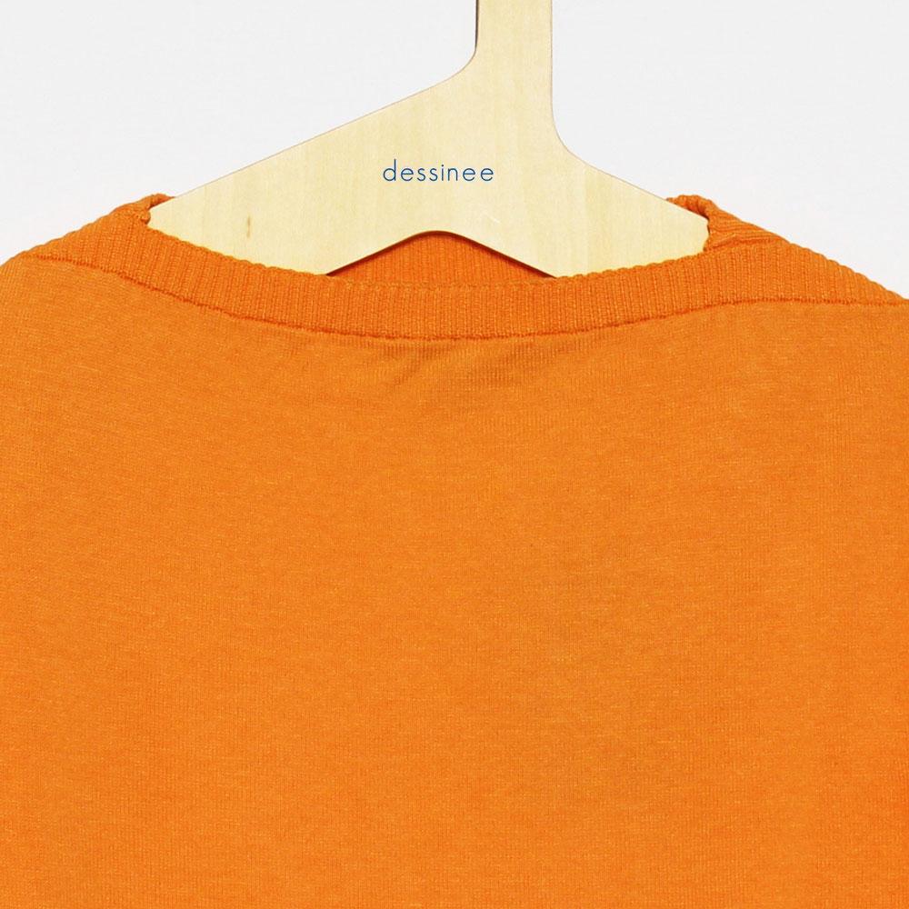 FILEUSE D'ARVOR (フィルーズ・ダルボー) - Tristan (半袖ニット) (Pale Orange)