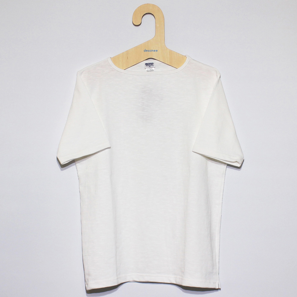 Tieasy AUTHENTIC CLASSIC (ティージー) - HDCS Boatneck S/S Basque Shirt (半袖バスクシャツ) (White)