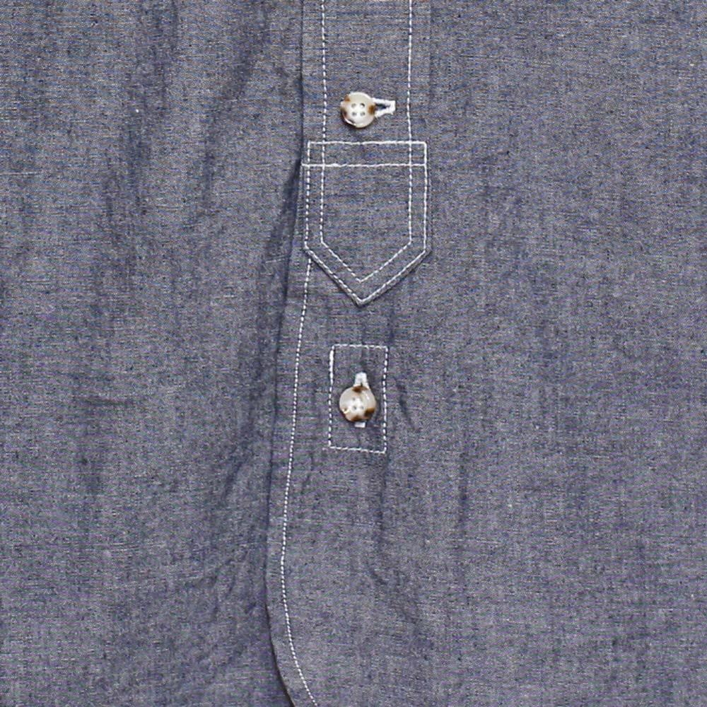 Gingamp (ギンガム) - Ordinary Shirts Chambray (長袖BDシャツ) (Blue)