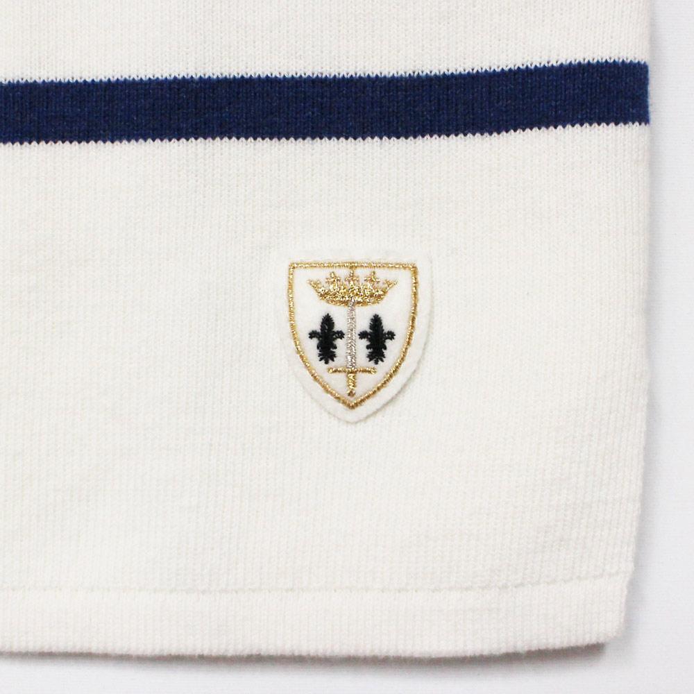 FILEUSE D'ARVOR (フィルーズ・ダルボー) - Brest (ボートネック・バスクシャツ) (Pure/V.Blue)