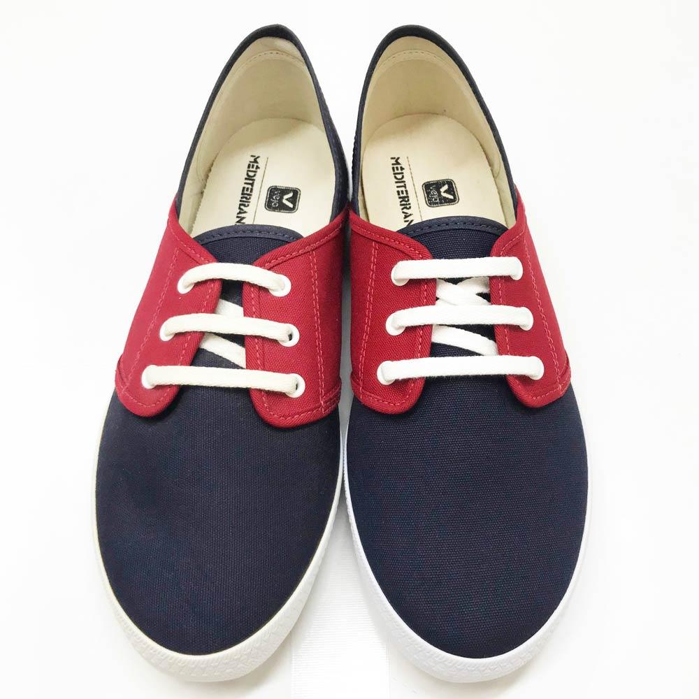 Veja (ベジャ) - Mediterranee Plimsole (スニーカー) (Navy/Red)