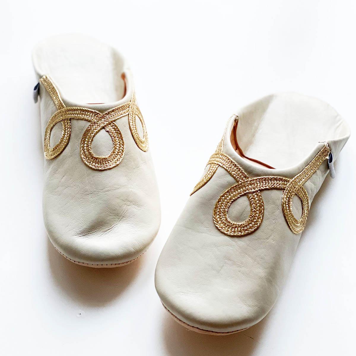 <<取り寄せ>>バブーシュ・ロミ//白樺//L (24.5 cm) //ディアモロッコ