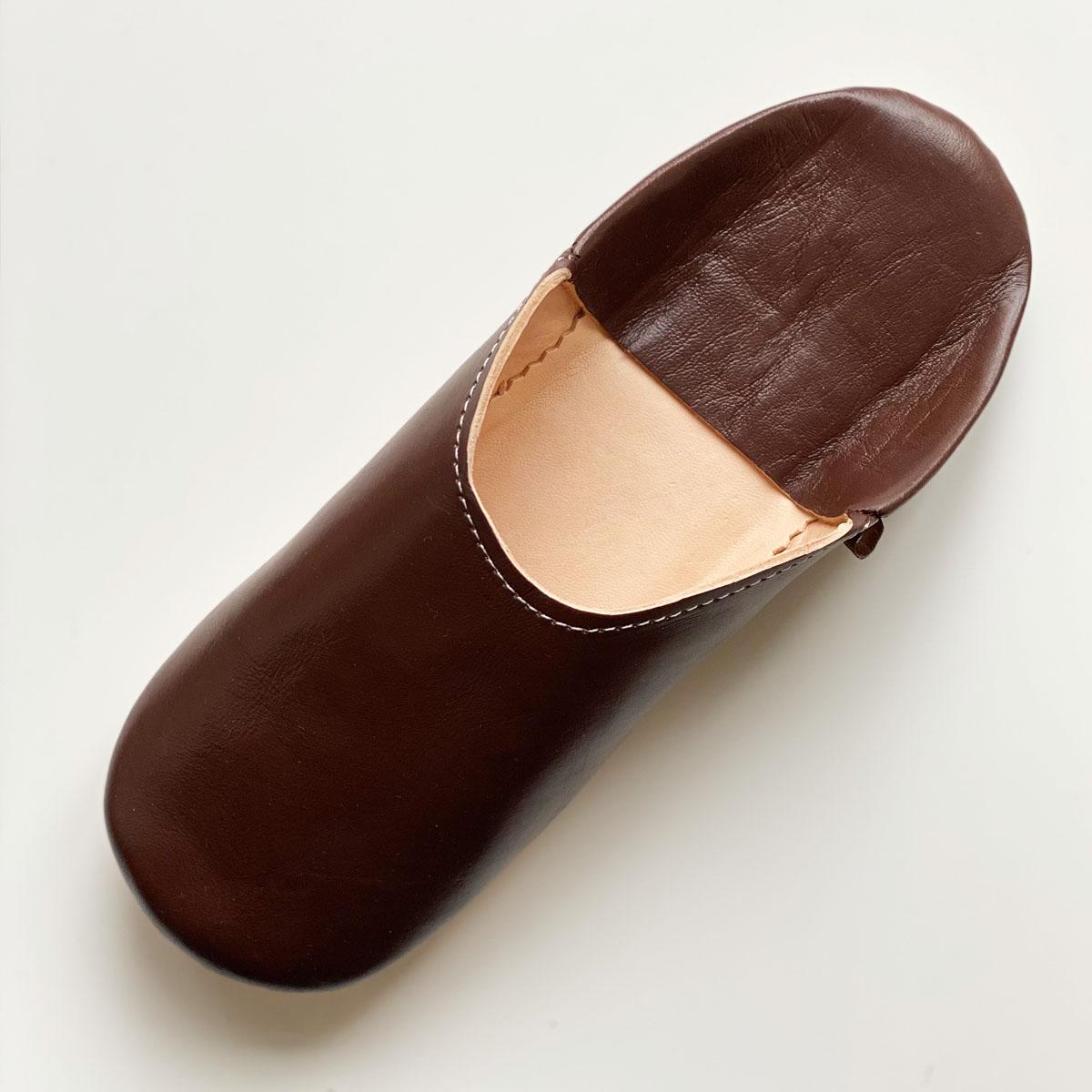 <<取り寄せ>>シンプルバブーシュ//ビター・チョコレート//4L (28 cm) //ディアモロッコ