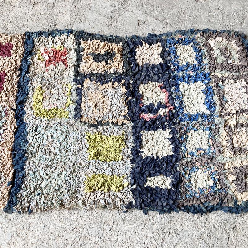 モロッコリサイクルラグ/ボシャラウィット//KL10881//165*57cm //ディアモロッコ