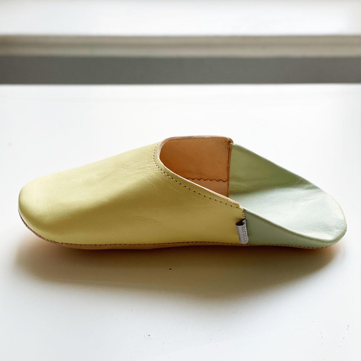 <<取り寄せ>>バブーシュ・ダブルカラー//ヴァニラ//3L (27 cm) //ディアモロッコ