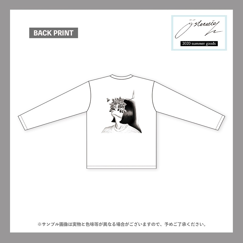 osterreich/『四肢』monochrome graphic long sleeve t-shirt