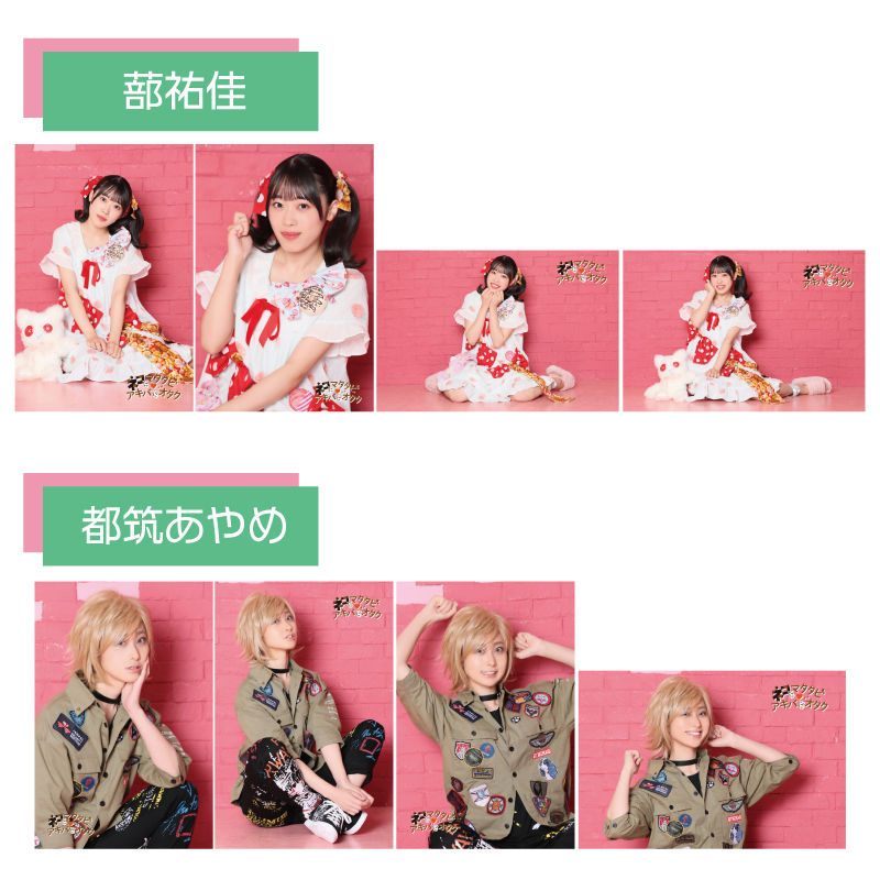 舞台『ネコにマタタビ♡アキバにオタク』ブロマイド4枚セット【A】