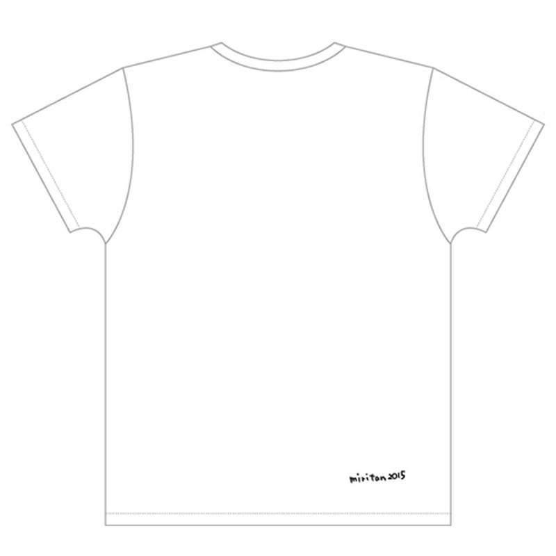 【古川未鈴 2015年生誕グッズ】イラストTシャツ ホワイト