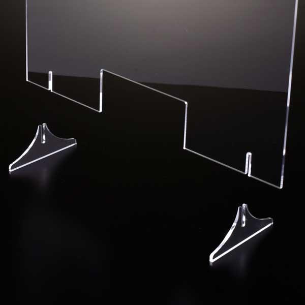 窓付き アクリル パーテーション(差込み式) W900*H600*D250【5台セット】