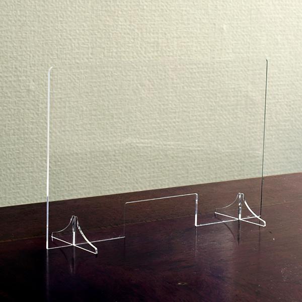 窓付き アクリル パーテーション(差込み式) W900*H600*D250【10台セット】
