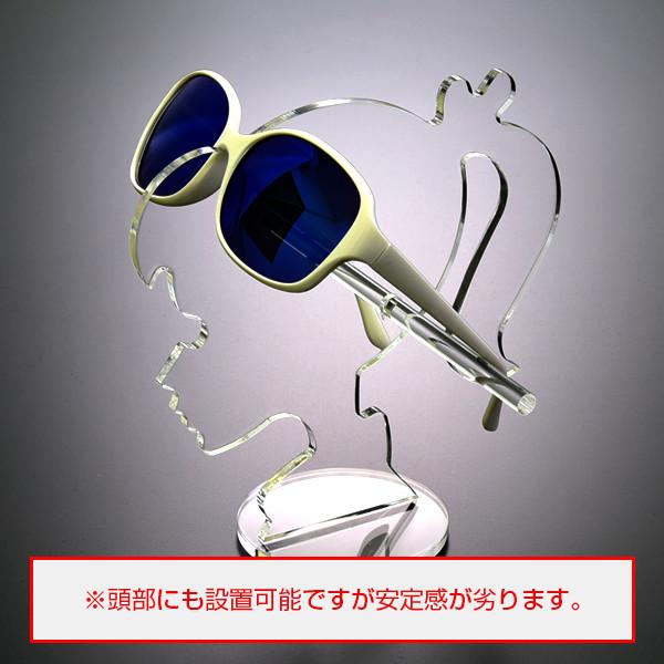 サングラススタンド【人型シリーズ02】少女 ポニーテールタイプ