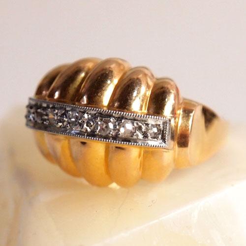 18金 ダイヤモンド イタリアン カクテルリング