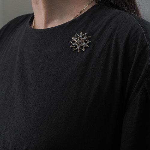 ビクトリアン カットスティール 北極星ブローチ