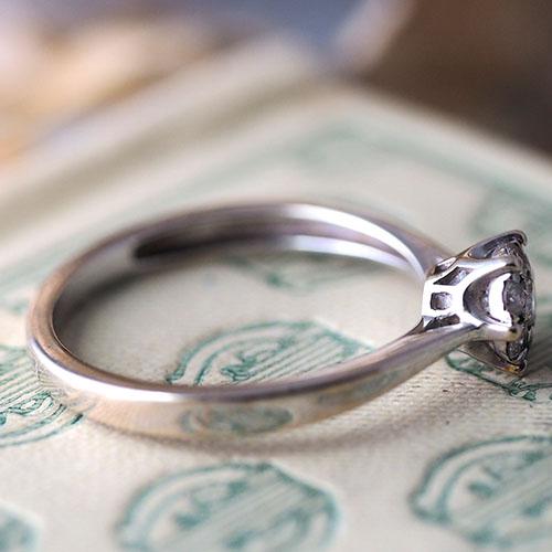 9金 ダイヤモンドクラスターリング(ヴィンテージジュエリー)