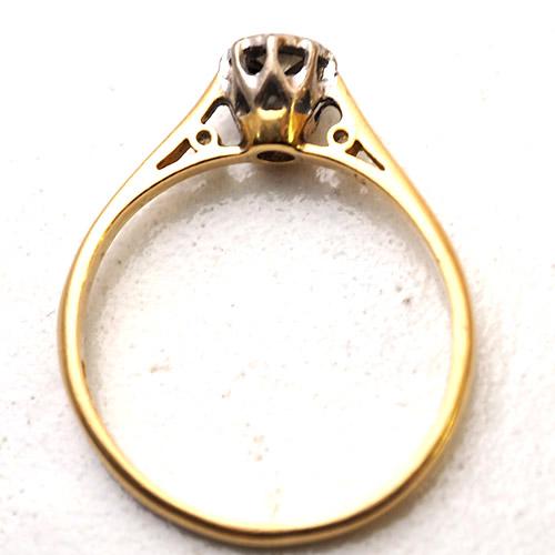 18金 ソリティアダイヤモンドリング