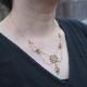 18金 ピンクサファイヤ フラワーリボン ネックレス