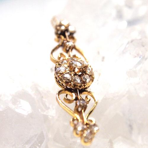 18金 ローズカットダイヤモンド フレンチペンダント
