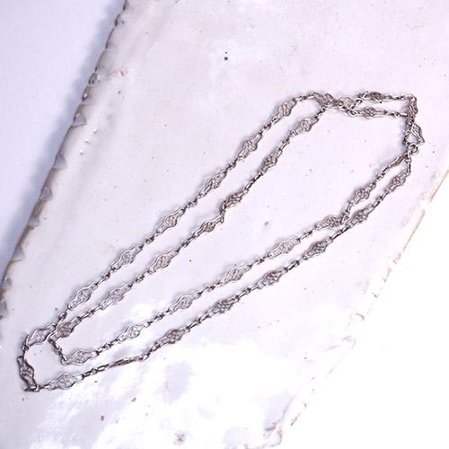 フレンチ シルバーフィリグリ ロングチェーン 90cm