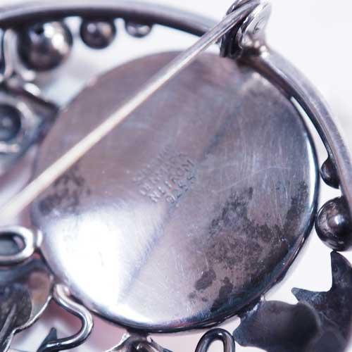 N.E.FROM(N.E フロム)ローズクォーツ 魚ブローチ