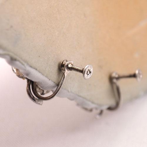 シルバー&ペースト クローバーイヤリング