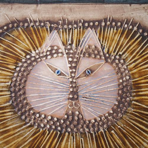 Lisa Larson ビンテージリサラーソン 猫 陶板壁掛け