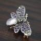 サフラジェット(アメシスト ペリドット ムーンストーン)蜂(ハチ)のブローチ