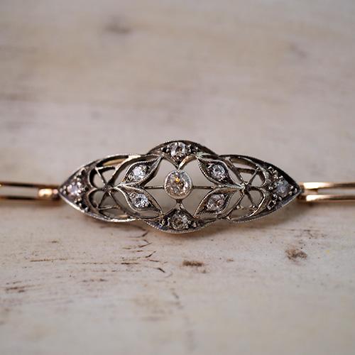 18金 シルバー オールドヨーロピアンカットダイヤモンド ブレスレット