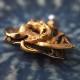 18金 ダイヤモンド&シードパール ドラゴン ブローチ